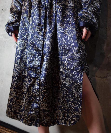 Art Nouveau Satin Front Open Dress
