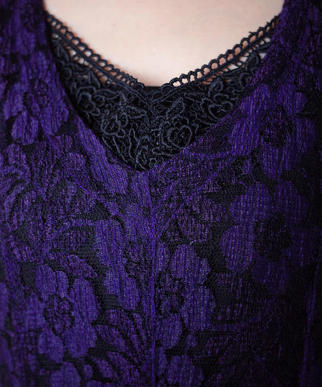 Deep Purple Lace Dress