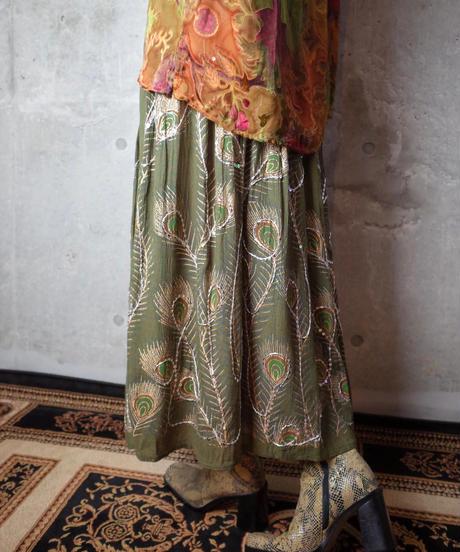 Peacock Rayon Skirt