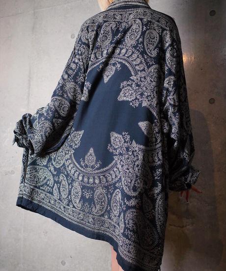 Bandanna Paisley Big Silhouette Rayon Shirt
