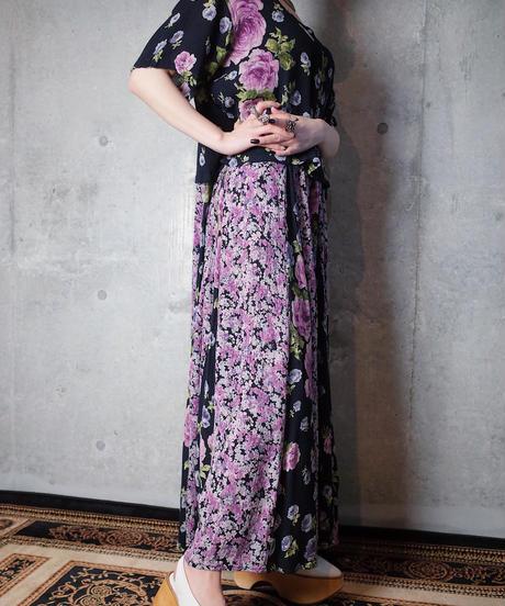 Switch Flower Rayon Layered Dress
