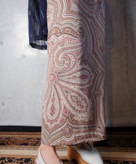Paisley Silk Wrap Skirt