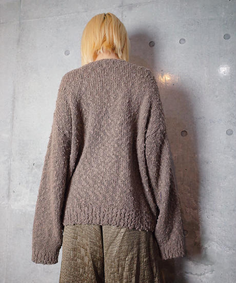 Wavy Rough Texture Knit Sweater