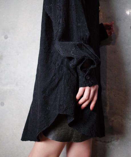 Paisley Jacquard Black Rayon Shirt