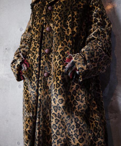 Leopard Fur / Chocolate Brown Nylon Reversible Coat