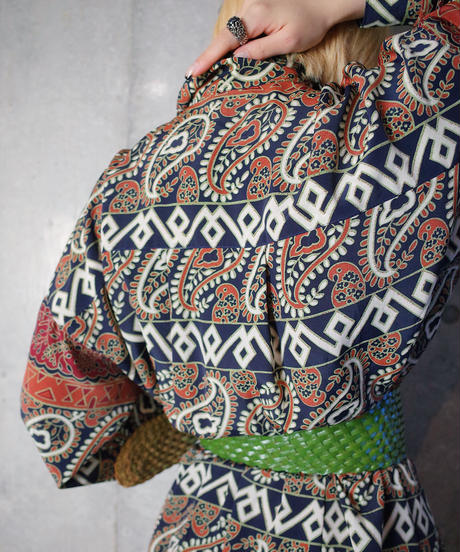 Primitive Paisley Front Open Dress