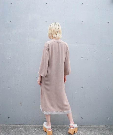 """KOOS VAN DEN AKKER"" Rayon Patchwork Dress"