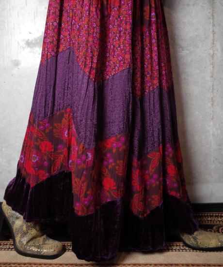 Purple Rayon Switch Skirt