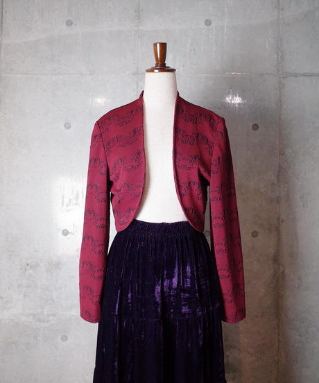 """Pierre Cardin"" Arabesque Woven Bolero Jacket"