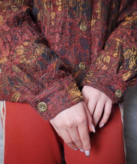 Aurora Gradation Rose Weave Jacket