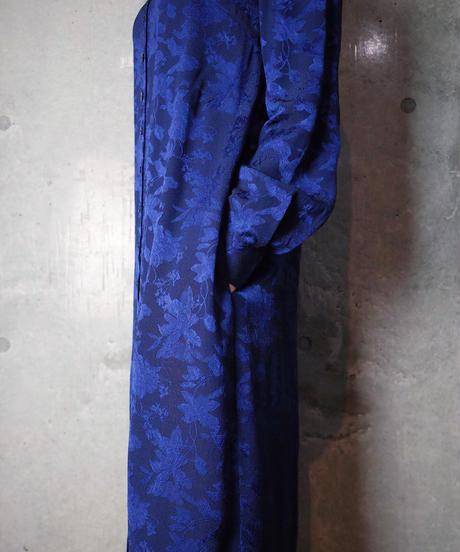 Jacquard Flower Front Open Dress