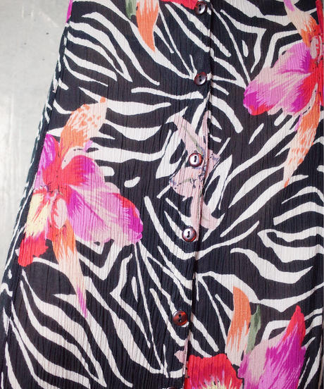 Zebra × Flower Rayon Dress