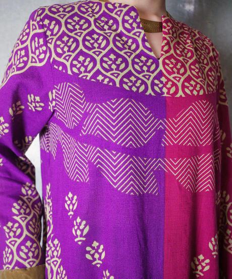Purple/Pink Exotic Slit Dress