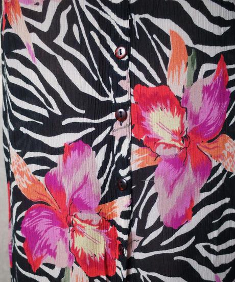 Zebra × Flower Rayon Dress