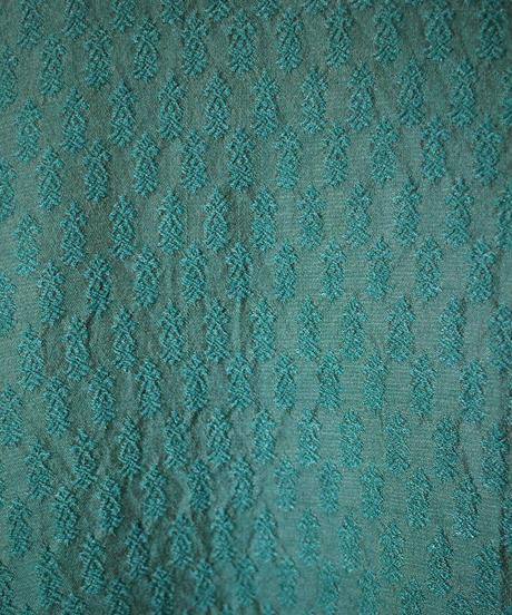 Beautiful Green Embroidery × Jacquard Dress