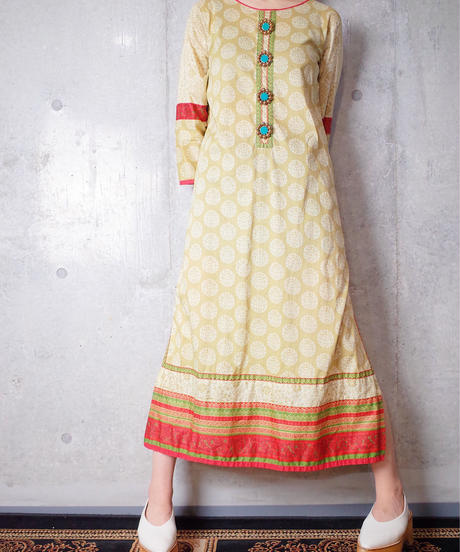 Oriental Back Embroidery Dress