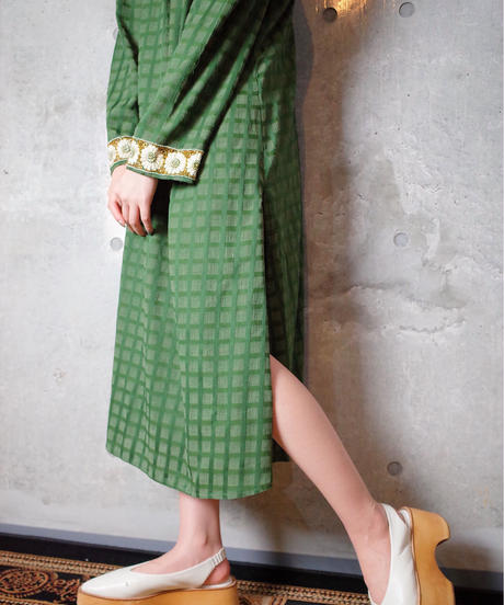 Bijou Embroidery Moss Green Dress