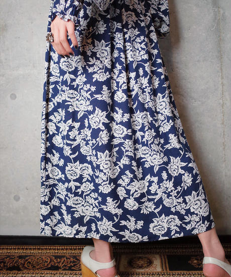 Flower Rayon Gather Work Dress
