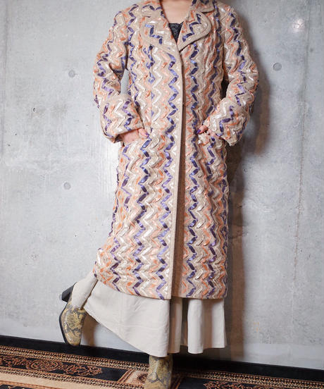 Special Materials Ribbon Embroidery Coat