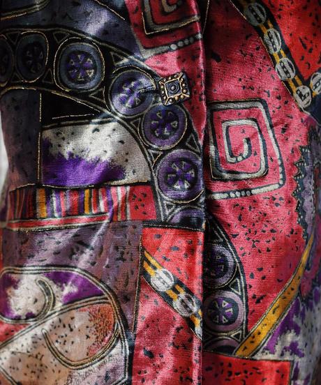 Primitive Art Velvet Collarless Jacket