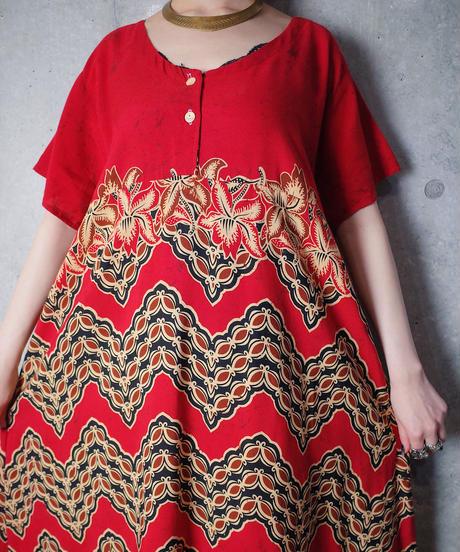 African Pattern Rayon Dress