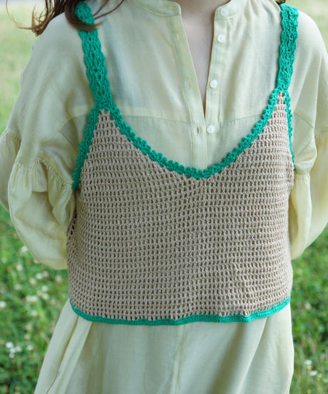 piping bustier green