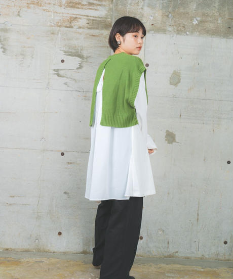 knit vest two color