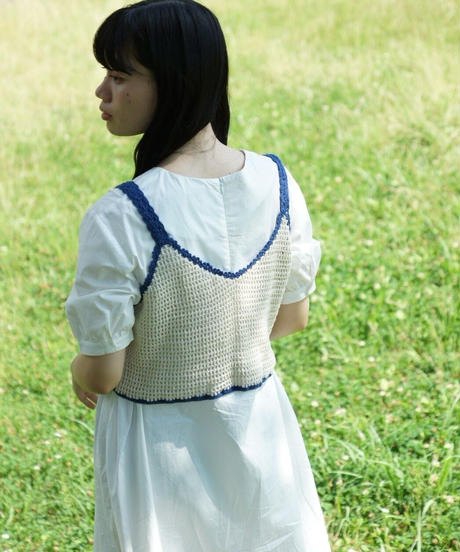 original knit bustier blue