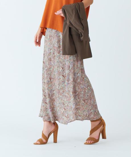 【予約商品】ペイズリープリントスカート|E25109