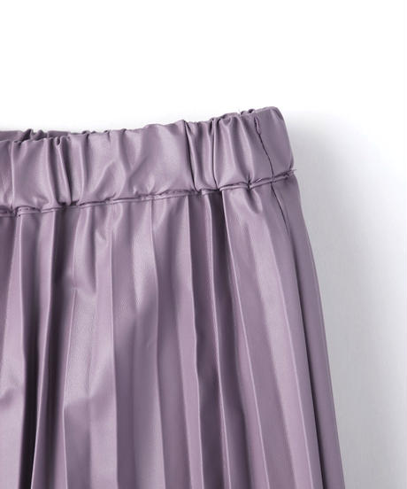 【オンライン限定】フェイクレザープリーツスカート|M25482