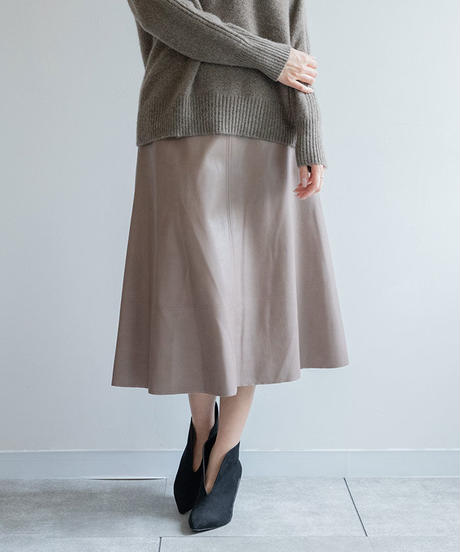 フェイクレザースカート|BEATRICE|E24412