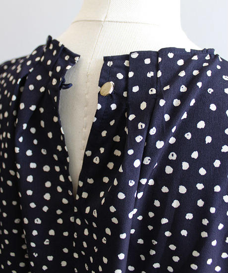 E14113-Dot|Blouse[BEATRICE]