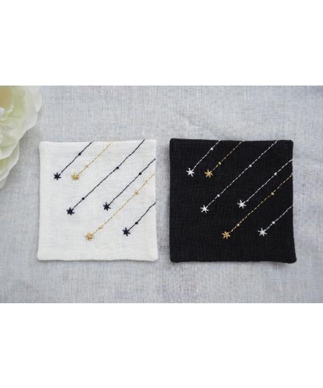 流れ星のコースター Black&White 2枚セット