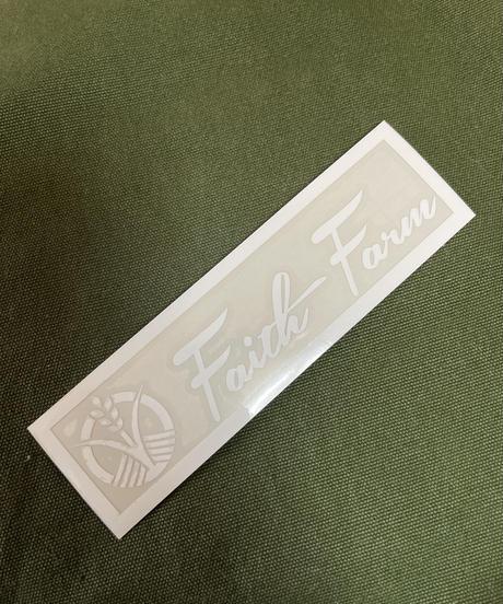 Faith Farm Official logo cutting sticker 150mm×35mm