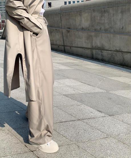 〔 l i m i t e d - l i n e 〕LongShirts Shiny SETUP (Greige)(yb003)