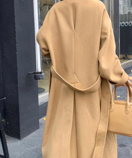 Back tack HANDMADE COAT(Camel)