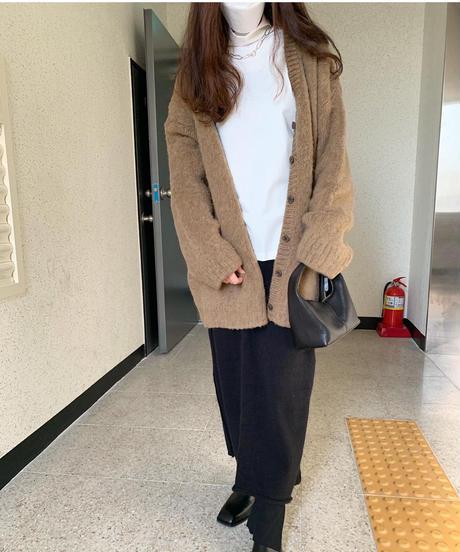 WOOL box cardigan (4color)