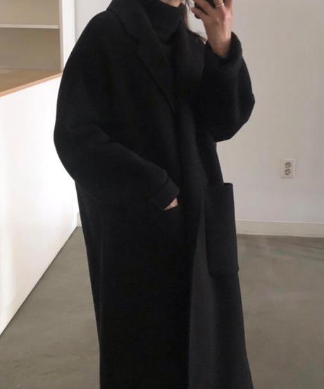 Back tack HANDMADE COAT (Black)