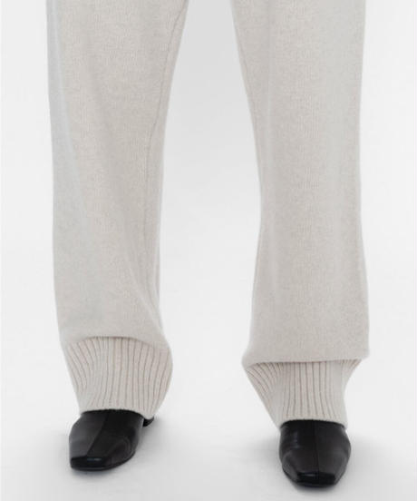 cashmere knit loose pants (3color)