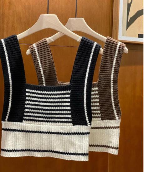 Knit bustier(2color)