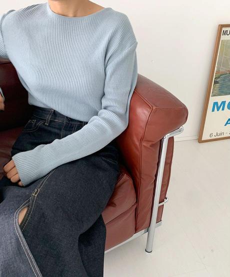 rib cut knit (5color)