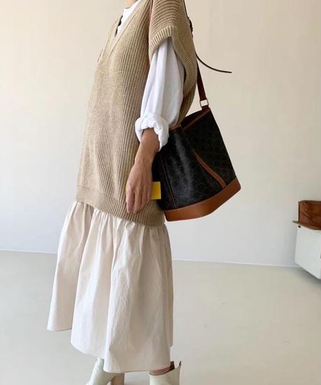 Loose V  vest (3color)