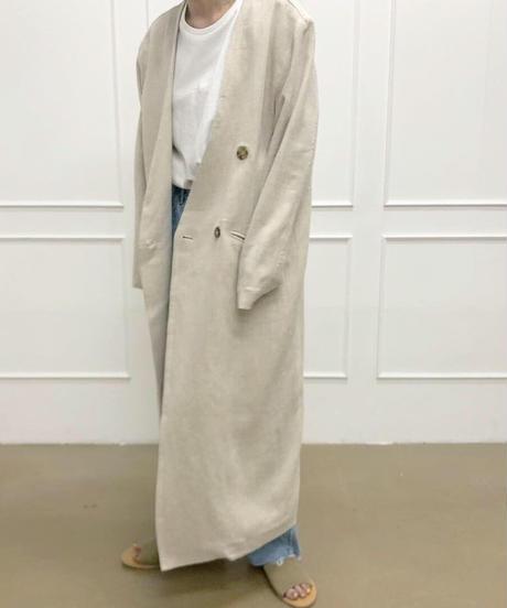 linen long coat