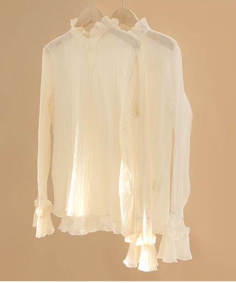 See-Through Blouse (3color)