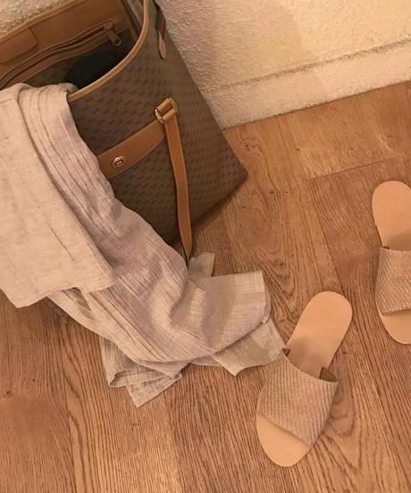 simple flat sandal (4color)