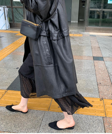 real reather oversize jackt