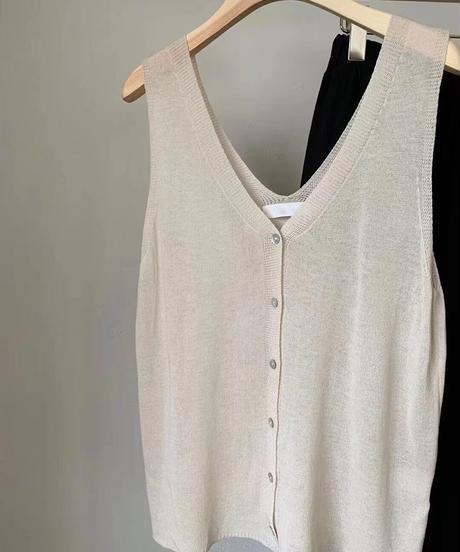 V knit summer tank (4color)