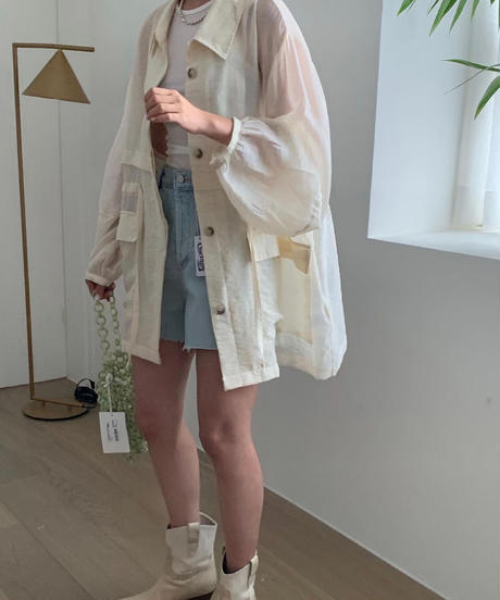 see‐through jumper (2color)