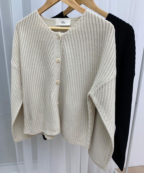 diagonal cardigan (2color)