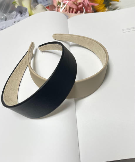leather hair band (2color)